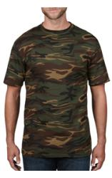 T-SHIRT CAMOUFLAGE, ANVIL