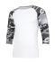 Blanc et couflage gris